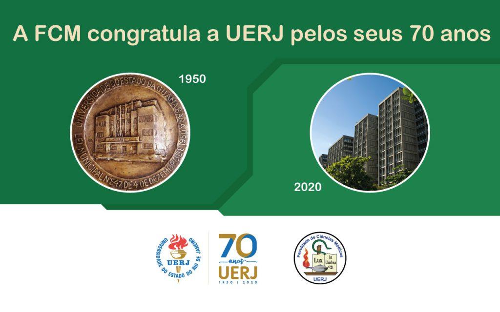 A Faculdade de Ciências Médicas se orgulha de ter sido uma das quatro Unidades Acadêmicas, junto com a Faculdade de Ciências Econômicas, Faculdade de Direito e Faculdade de Filosofia, Ciências e Letras, a contribuir na composição da Universidade do Distrito Federal (UDF), hoje nossa querida Universidade do Estado do Rio de Janeiro. PARABÉNS UERJ, Parabéns Professores, Tecnico-administrativos e Alunos da UERJ! Temos muito que comemorar e muito para fortalecer os próximos 70 anos!